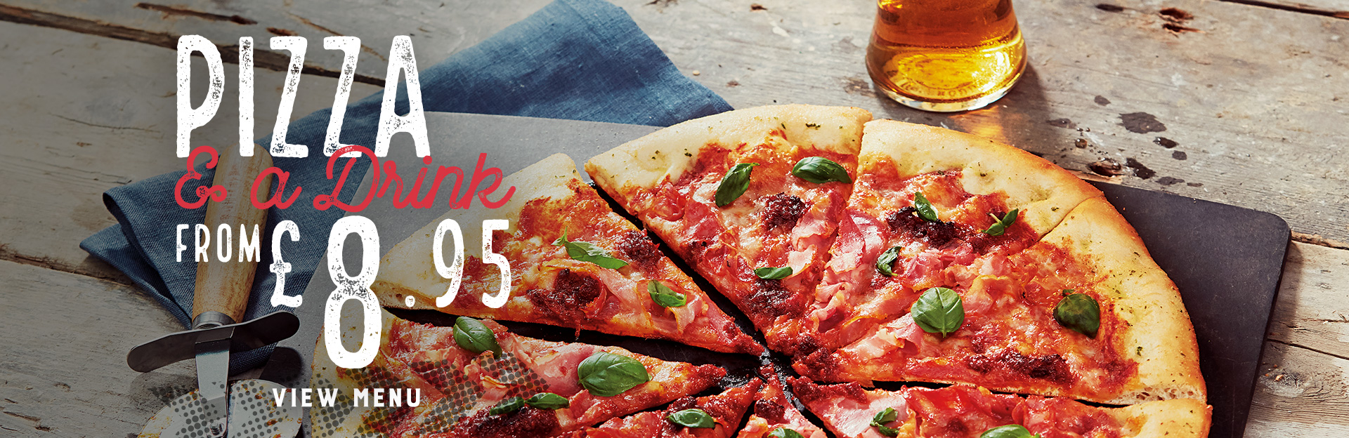 Pizza and Drink offer